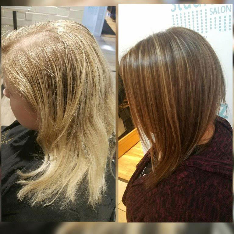 Hair colors before and after